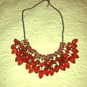 Beautiful Red Beaded Necklace!